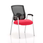 Oregon – Straight Chrome Leg Visitor Chair With Mesh Back Cherry
