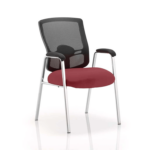 Oregon – Straight Chrome Leg Visitor Chair With Mesh Back Chilli