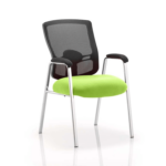 Oregon – Straight Chrome Leg Visitor Chair With Mesh Back Green