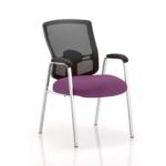 Oregon – Straight Chrome Leg Visitor Chair With Mesh Back Purple