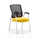 Oregon – Straight Chrome Leg Visitor Chair With Mesh Back Yellow