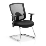 Portland Visitor Cantilever Chair Black