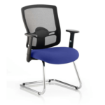 Portland Visitor Cantilever Chair Blue