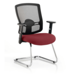 Portland Visitor Cantilever Chair Chilli
