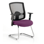 Portland Visitor Cantilever Chair Purple