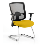 Portland Visitor Cantilever Chair Yellow