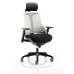 Lex Task Operator Chair In Multicolor Back White Black