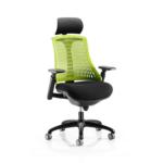 Lex Task Operator Chair In Multicolor Back Green Black