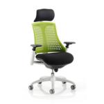 Lex Task Operator Chair In Multicolor Back Green White