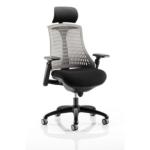Lex Task Operator Chair In Multicolor Back Grey Black