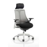 Lex Task Operator Chair In Multicolor Back Grey White