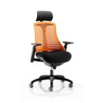 Lex Task Operator Chair In Multicolor Back Orange Black