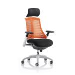 Lex Task Operator Chair In Multicolor Back Orange White