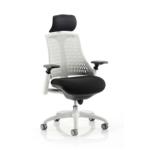 Lex Task Operator Chair In Multicolor Back White White