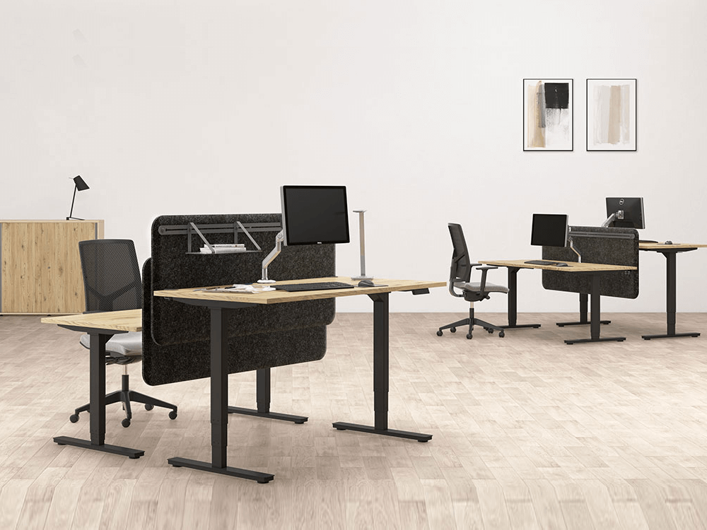 Alfio 1 – Workstation For 2, 4 And 6 People With Electric Height Adjustment
