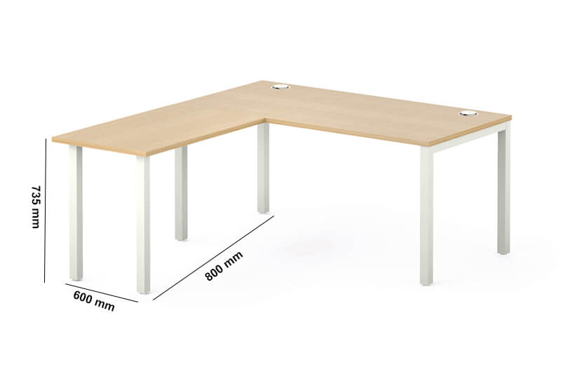 Arial Executive Desk With Fixed Legs Perfect Adtion