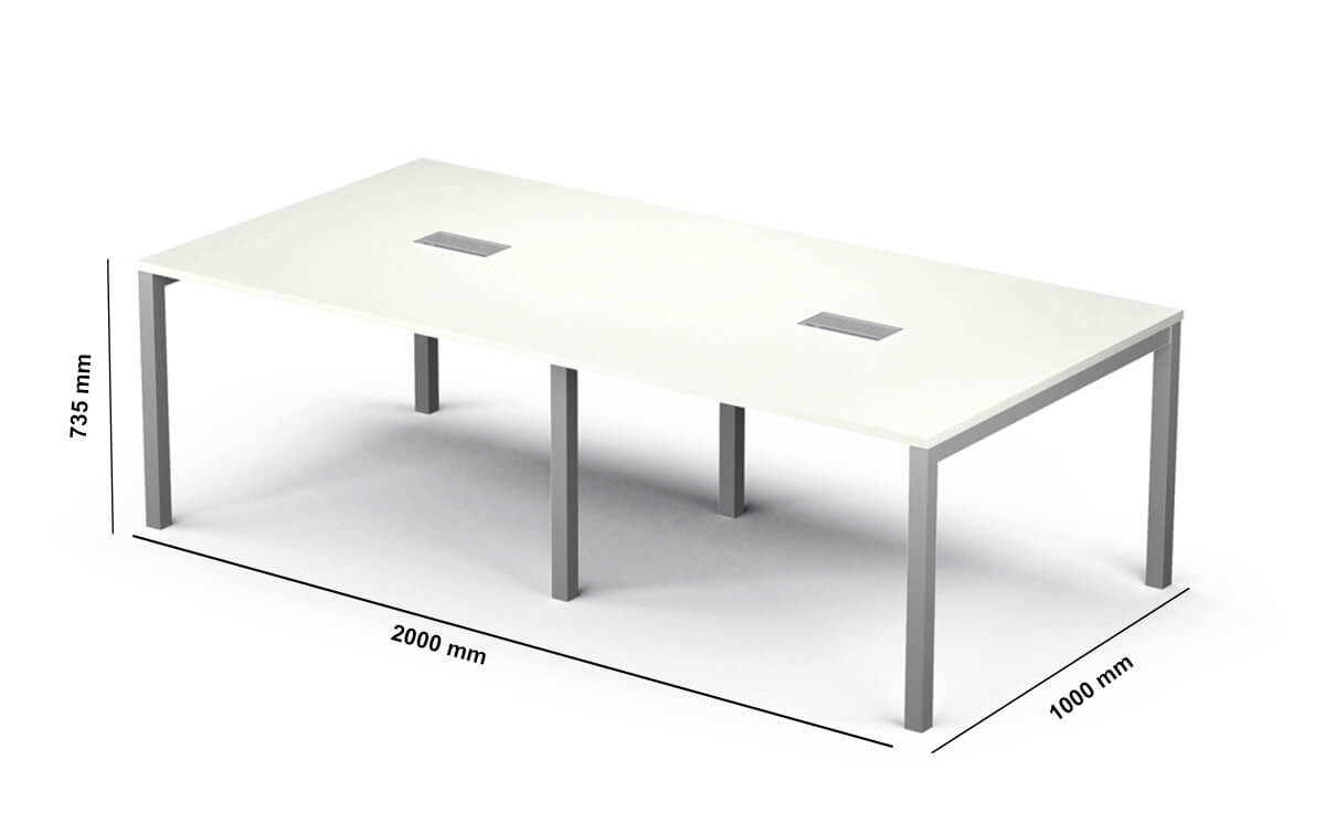 Arial Meeting Table Dimension Image