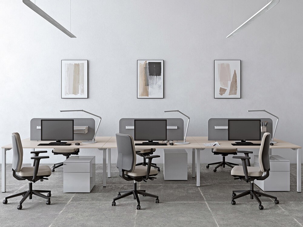 Arial Workstation For 2,4 And 6 People With Fixed Height Main Image