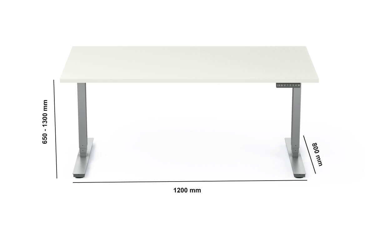 Axel Standalone Electric Height Adjustable Desk Dimension Image