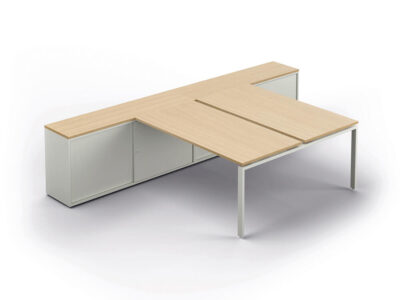 Conect Bench With Optional Credenza Main Image