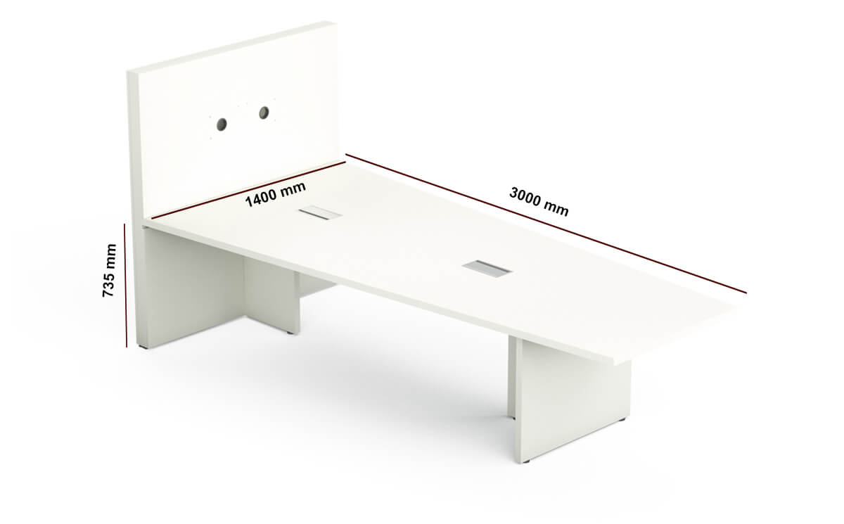 E Meeting Table With Panel Legsdimension Image