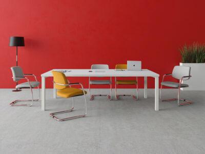 Eloise Rectangular Desk With Metal Legs Main Image