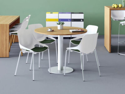 Eloise Round Desk With Central Round Base Main Image