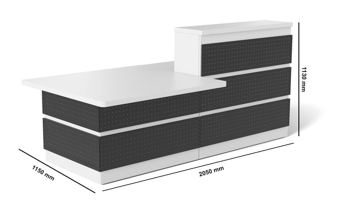 Guest Reception Desk With Dda Approved Wheelchair Access Unit Dimension Image