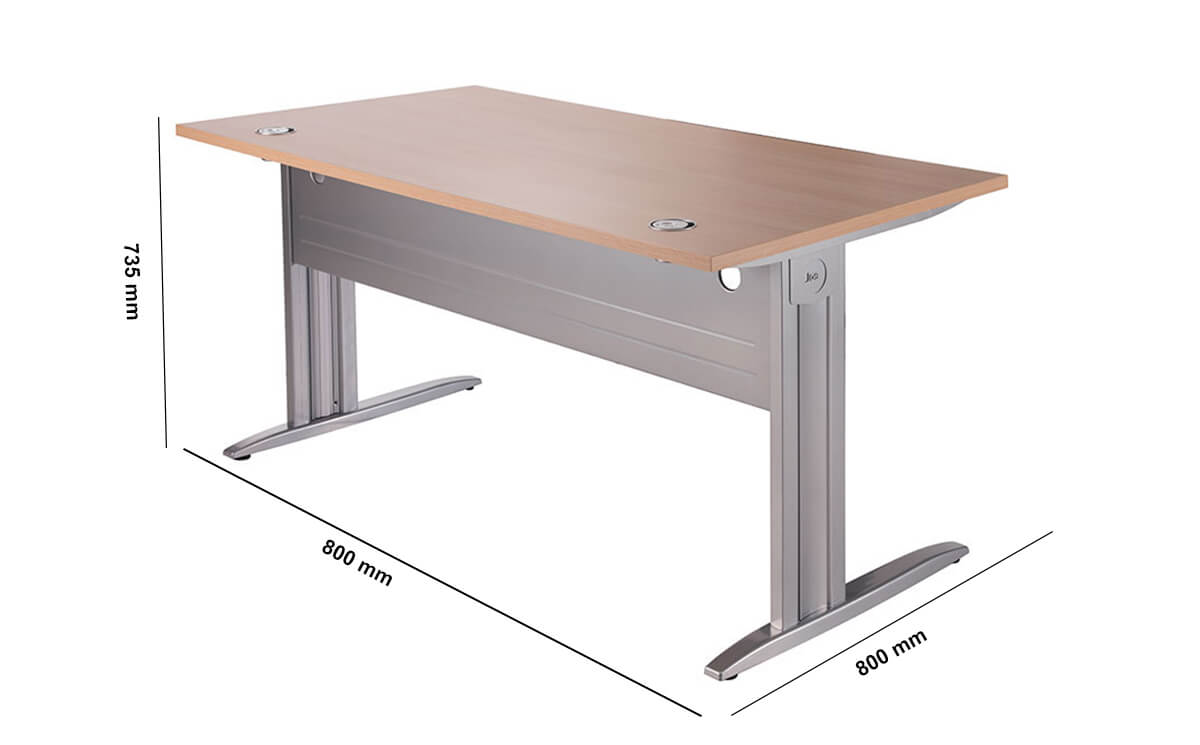 Idol Executive Desk With Fixed Legs Dimension Image