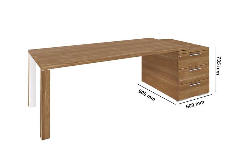 Kara Rectengular Desk With 4 Legs Perfect Addtion