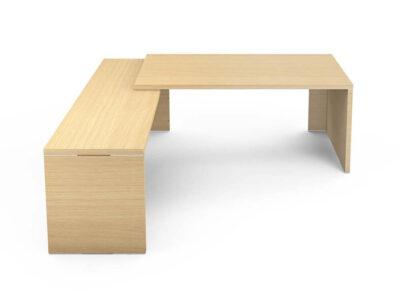 Kara Rectengular Desk With Panel Legs 1