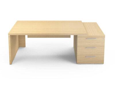 Kara Rectengular Desk With Panel Legs 2