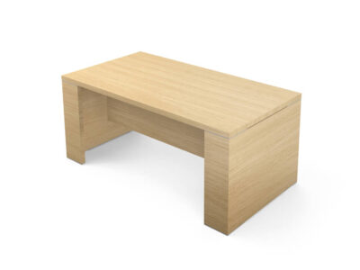 Kara Rectengular Desk With Panel Legs