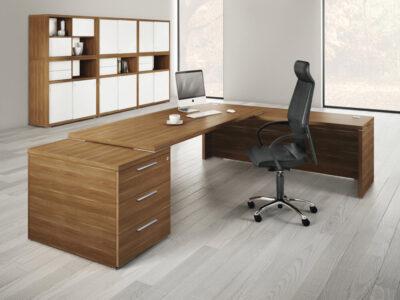 Kara Rectengular Desk With Panel Legs Main Image