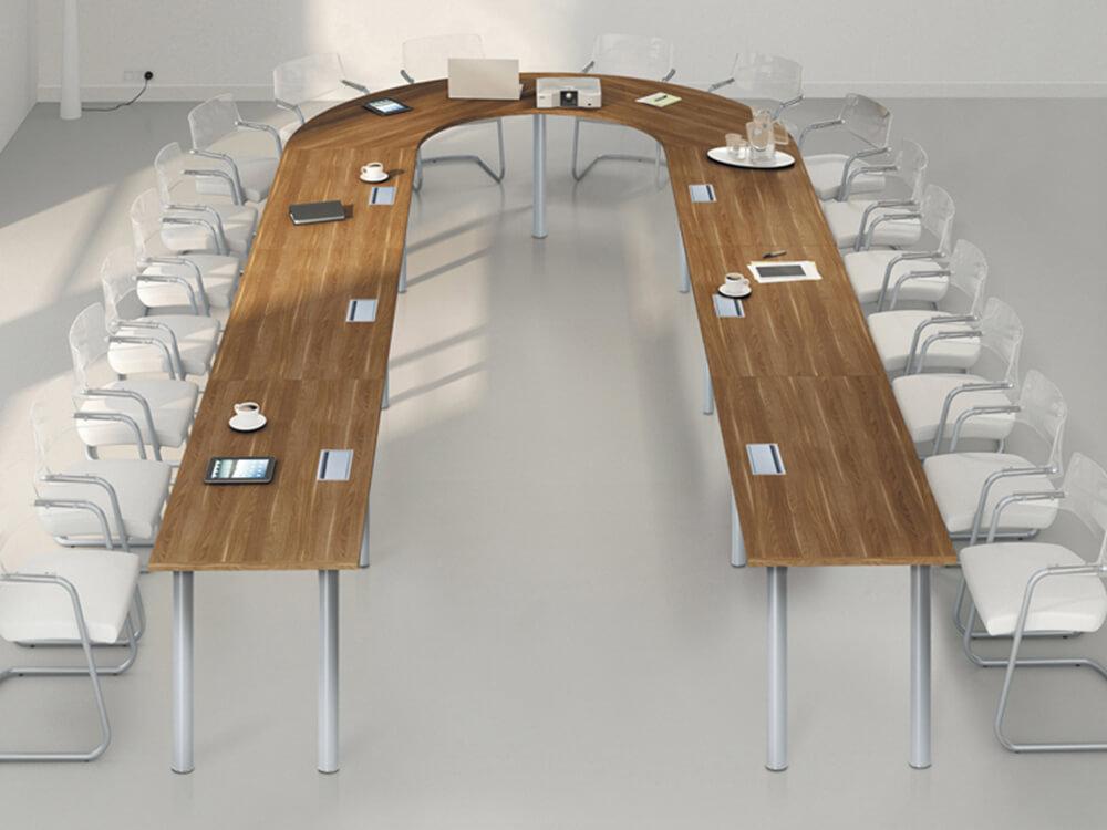 Modulo U Shape Meeing Table With Circular Section Metal Leg Main Image