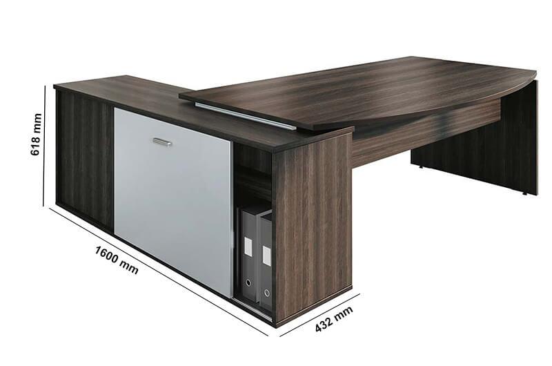 Moka Curved Executive Desk Perfect Addition