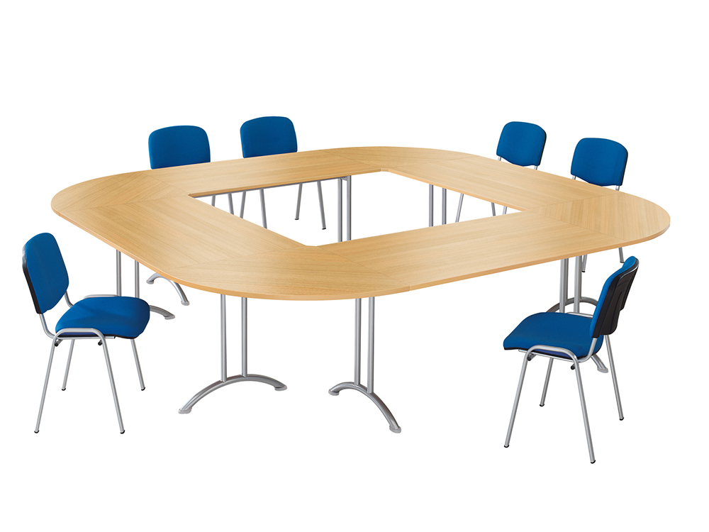 Open Sided Rectangular Meeting Table Main Image