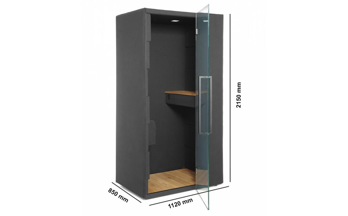 Quadra Phone Booth Dimension Image
