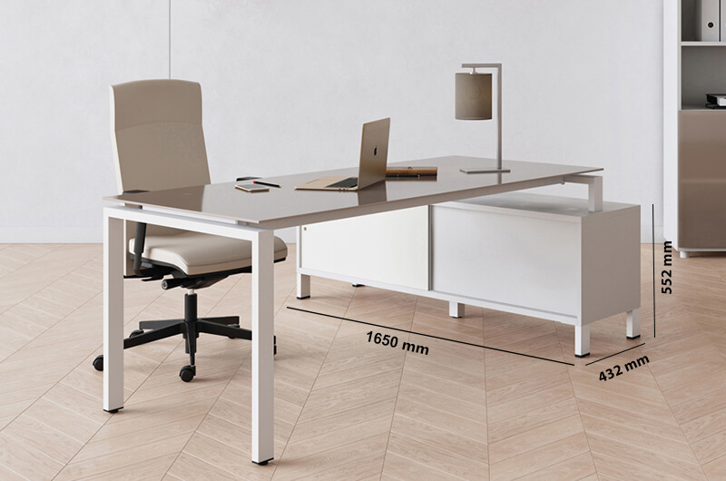 Rio Executive Desk With Glass Top Perfect Addtion