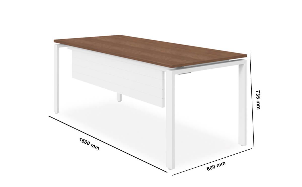 Rio Executive Desk With Melamine Top Dimension Image