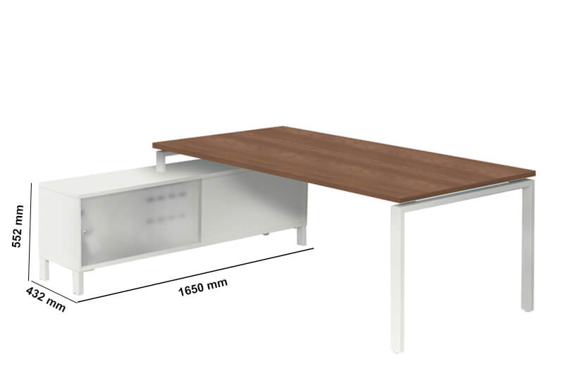 Rio Executive Desk With Melamine Top Perfect Addtion
