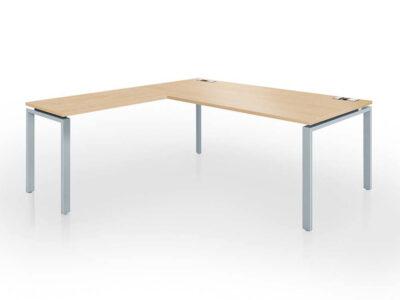 Rio Executive Desk With Melamine Top With Return