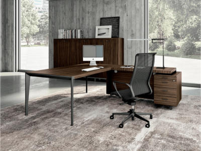 Buono 1 Sleek Executive Desk In Wood Veneer7