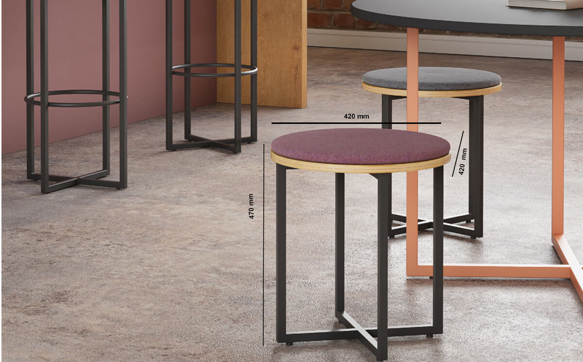 Crays Seating Low Stool Dimension Image