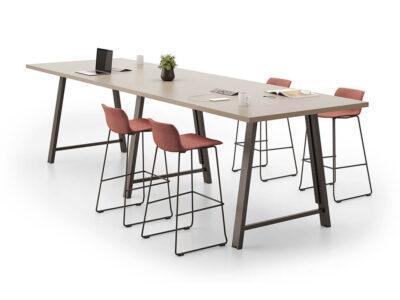 Croyd Rectengular High Meeting Table Main Image
