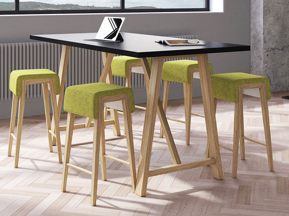 Croyd Rectengular Meeting Table With Wooden Leg Featured Image