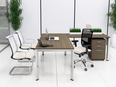 Ello Simple Executive Desk With Chrome Legs 2