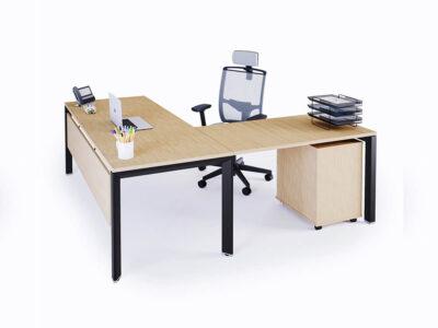 Ello Simple Executive Desk With Chrome Legs