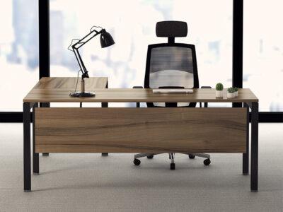 Ello Simple Executive Desk With Chrome Legs Main Image