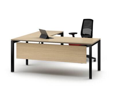 Ello Simple Executive Desk With Chrome Legs1